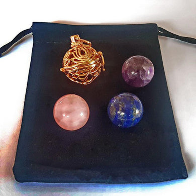 Gold Interchangeable Pendant - 3 Spheres
