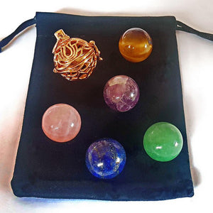 Gold Interchangeable Pendant - 5 Spheres