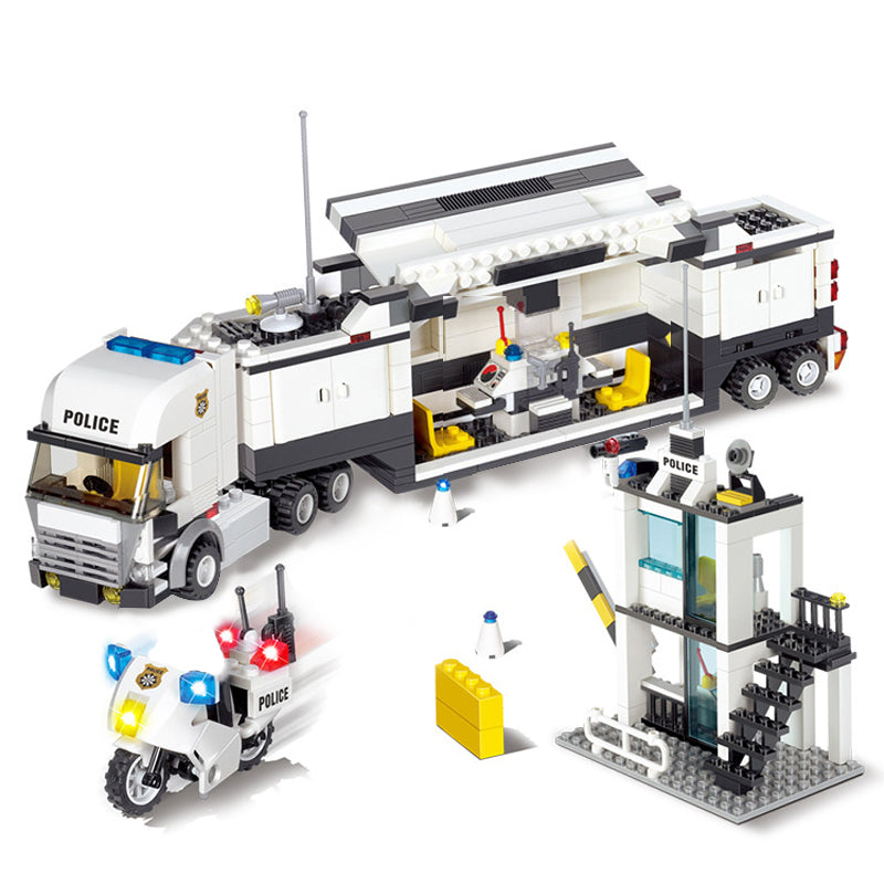 6727 City Street Police Station Car Truck Building Blocks Bricks Educational Toys For Children Gift Christmas Legoings 511Pcs - KiddyLanes