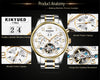 Watch Mens Skeleton Gold Calendar Automatic Watch Men