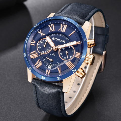 BENYAR™- Men's Leather Watch