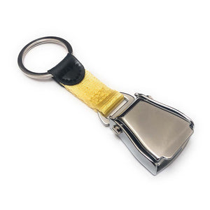 Airplane Seat Belt Keychain | Yellow | Shiny Finish | Aviamart