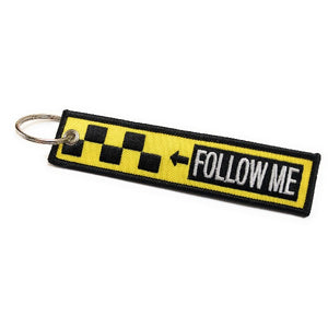 Follow Me / Remove Before Flight Keychain | Luggage Tag / Yellow / Black | Aviamart