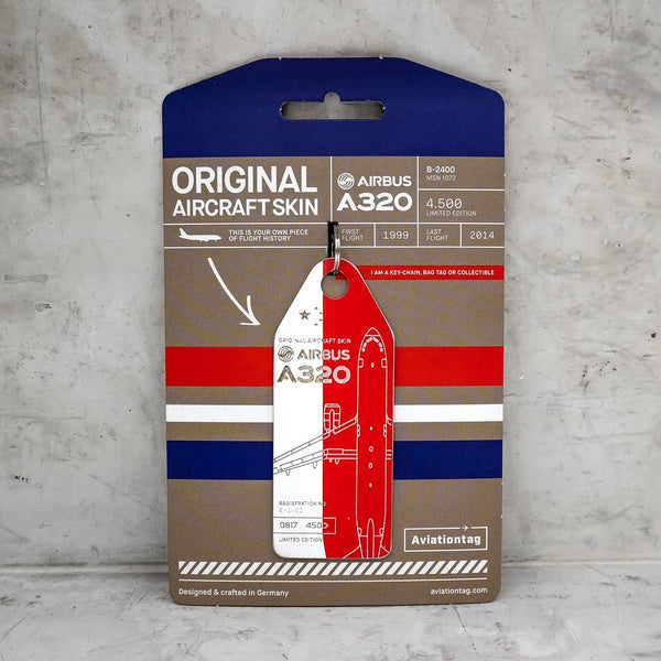 Aviationtag Airbus A320 - Red / White (China Eastern Airlines) B-2400 | Aviamart