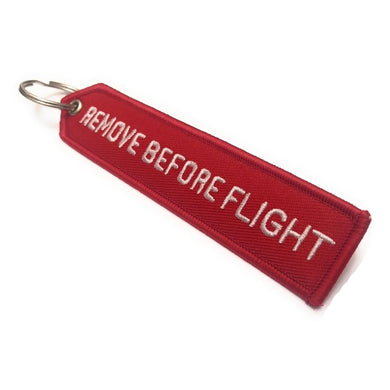 Remove Before Flight Arrow Keychain | Luggage Tag | Red / White | Aviamart