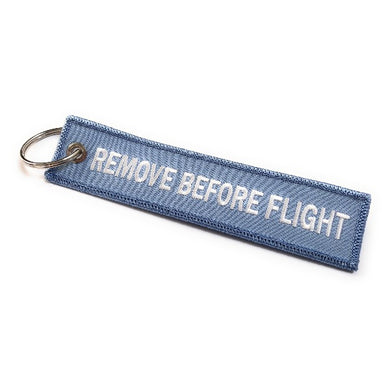 Remove Before Flight Keychain | Luggage Tag | Sky Blue / White | Aviamart