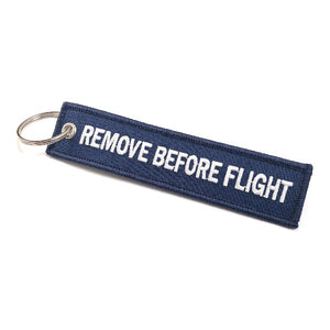 Remove Before Flight Keychain | Luggage Tag | Navy / White | Aviamart