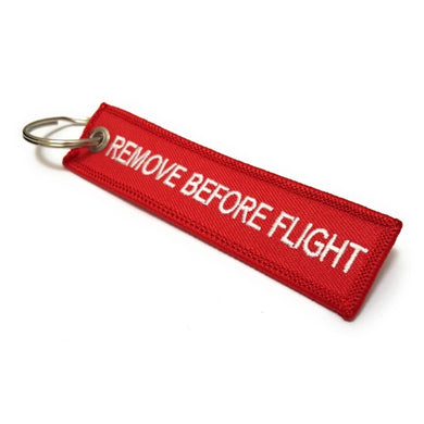 Remove Before Flight MINI Keychain | Luggage Tag | Red / White | Aviamart