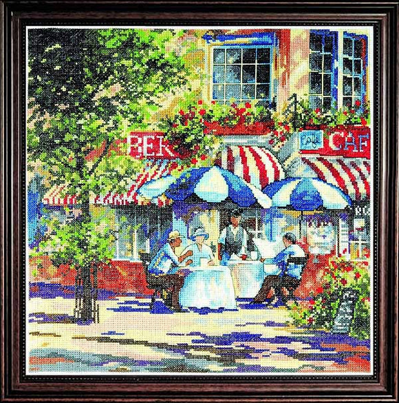 Cafe in the Sun Cross Stitch Kit by Design Works
