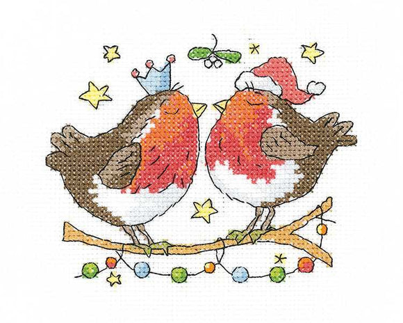 Christmas Kiss Cross Stitch Kit by Heritage Crafts