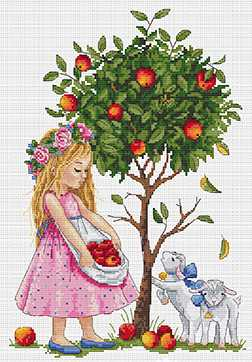 Apple Tree Cross Stitch Kit by Merejka