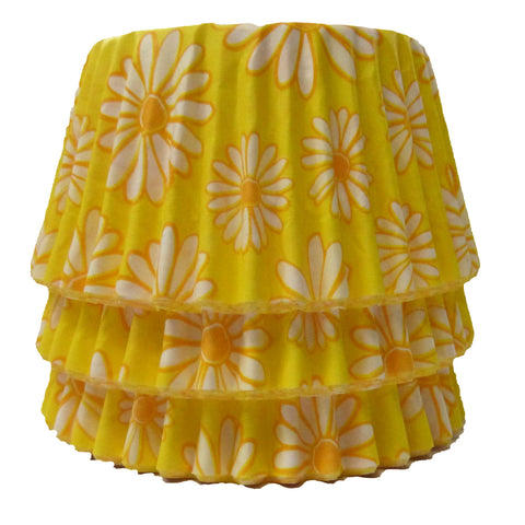 Cupcake Cases - Patterned - Yellow Daisy