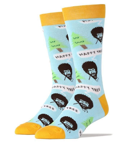 Men's Bob Ross Happy Tree Socks