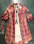 Dolly Pink Plaid Tunic