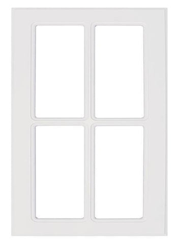 white mullion cabinet doors