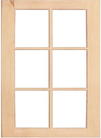 wood mullion cabinet doors