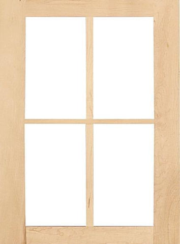wood shaker mullion cabinet doors
