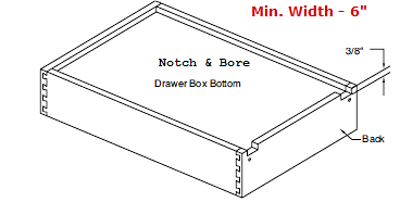 "Replacement Cabinet Drawer Box (4"" Height) - Cabinet Doors 'N' More"