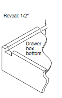 "Replacement Cabinet Drawer Box (12"" Height) - Cabinet Doors 'N' More"