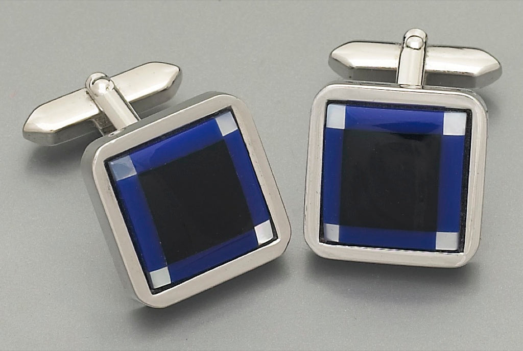 Cufflinks - 2230 Mother of Pearl/Onyx