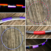 Broken Red and Purple (Coin Flip) Two Sided Reflective Hoop
