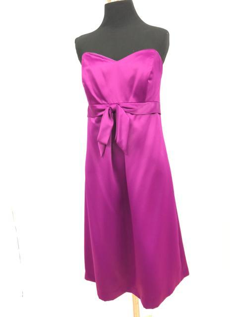 After Six Size 12 Purple Short  Strapless Formal Dress