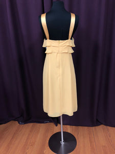 After Six Size 12 Yellow Ruffle Halter Short Formal Dress