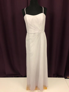 Alfred Angelo Size 12 Gray Silver Formal Dress