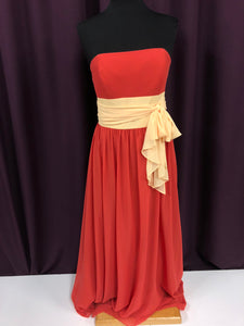 Alfred Angelo Size 12 Orange Bow Formal Dress