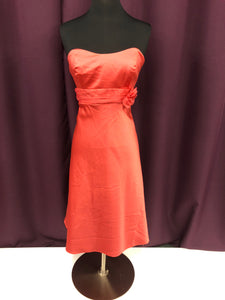 Alfred Angelo Size 12 Orange Flower Formal Dress
