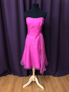 Alfred Angelo Size 12 Pink Belt  Tulle Formal Dress