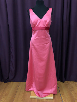 Alfred Angelo Size 12 Pink Bow Formal Dress
