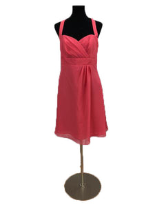 Alfred Angelo Size 12 Pink Halter Formal Dress