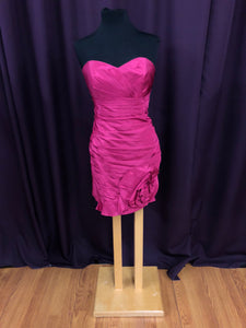 Alfred Angelo Size 12 Pink Rushing  Strapless Short Formal Dress