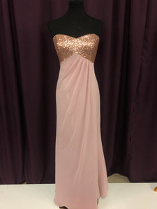 Alfred Angelo Size 12 Pink Sequin Formal Dress