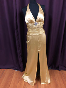 Night Moves Size 8 Yellow Formal Dress