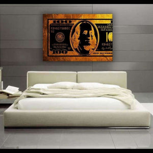 $100 Bill Gold & Black - Artwork Addict