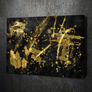 Black Gold Abstract II - Artwork Addict