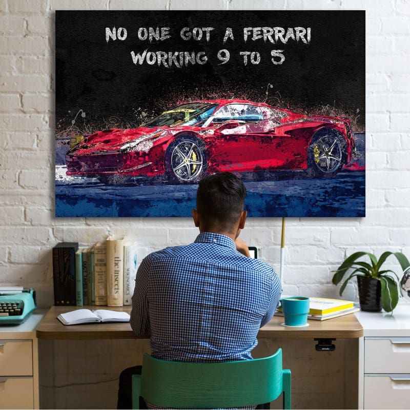 Ferrari 9 to 5 - Artwork Addict