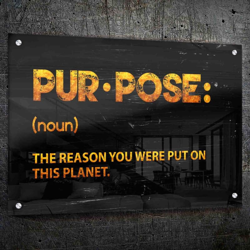 Purpose Wall Art - Framed Canvas Painting Wall Art Office Decor, large modern pop artwork for home or office, Entrepreneur Inspirational and motivational Quotes on Canvas great for man cave or home. Perfect for Artwork Addicts. Made in USA, FREE Shipping.
