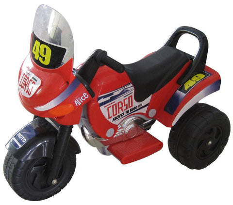 Mini Racer Battery Operated Kids Motorcycle (Red) - Peazz.com