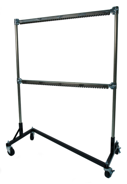 Painting, Powder Coat Rack, Heat Resistant 525° F, 5-ft Z Base, 5-ft Uprights, 2 Rail