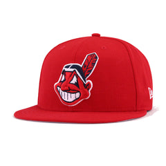 Cleveland Indians Scarlet 1995 World Series Cooperstown New Era 9Fifty Snapback
