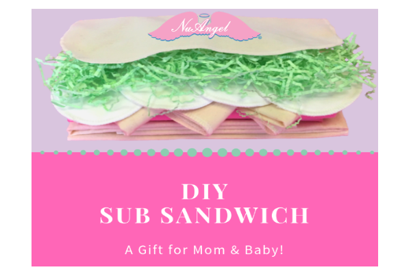 DIY Sub Sandwich for Baby Shower by NuAngel