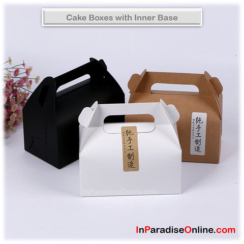 Elegant Cake Boxes with Handle