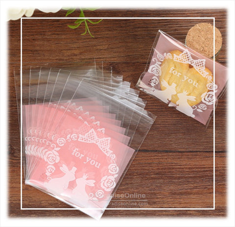 Self Adhesive Rabbit Cookie Plastic Bag