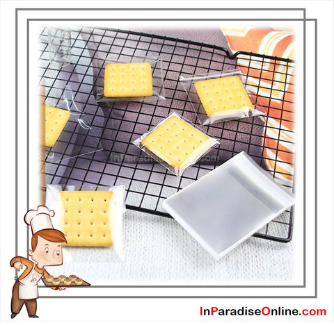 Clear Self Adhesive Cookies Plastic Bags