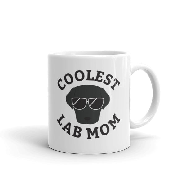 Coolest Lab Mom Coffee and Tea Mug for Black Labrador Dog Mothers