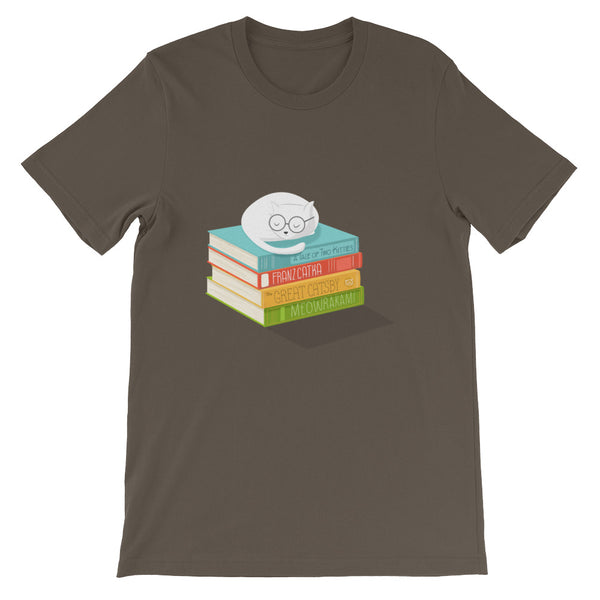 The Cat Loves Books T-Shirt