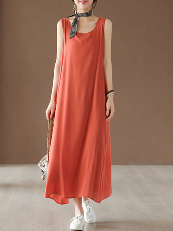 Loose Sleeveless Soft Long Dress